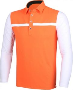OEM Golf T-Shirt with Anti-UVA Sleeve Summer Sports Shirts with Sunblock Ice Silk Sleeve pictures & photos