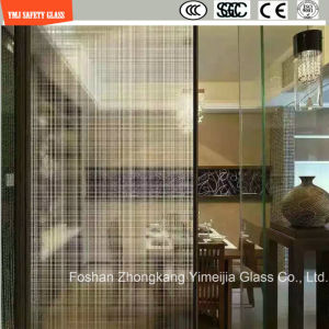 4-19mm Safety Construction Glass, Decorative Hot Melting Patterned Glass for Hotel & Home Door/Window/Shower/Partition/Fence with SGCC/Ce&CCC&ISO Certificate pictures & photos