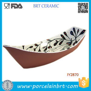 Ceramic Tiny Boat Shape Bowl Japanese Style Printing pictures & photos