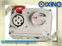 Cee/Ice Mechanical Interlock Socket with Switches for Industrial Application (QX7275) pictures & photos
