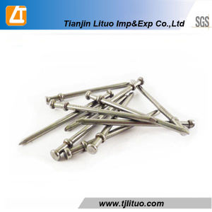 Polished Galvanized Duplex Double Head Nails pictures & photos