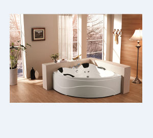 Corner Whirlpool Bathtub with Angle (M-2005) pictures & photos
