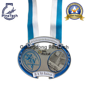2015 Carnival Medal with Antique Silver Finish and Soft Enamel, Free Artwork Design