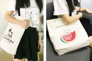 Girl′s Cotton Canvas Tote Bag (Fly-Tb0045) pictures & photos