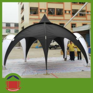 Black Color Dome Tent With Awning