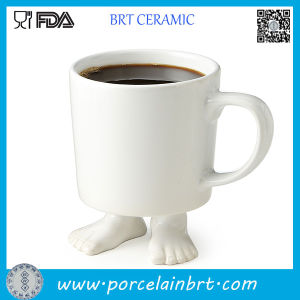 White Foot Shape Ceramic Coffee Mug pictures & photos