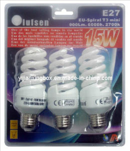 Plastic PVC LED Lamp Blister Packaging with Paper Card