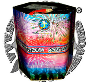 "1.2"" Red, White, Blue Everywhere 49 Shots Cake Fireworks pictures & photos"
