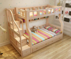 Solid Wooden Bed Room Bunk Beds Children Bunk Bed (M-X2214) pictures & photos