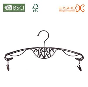 Elegant Metal Lingerie Hanger with Pewter finishing pictures & photos