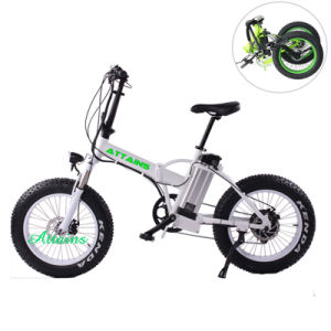 250W/500W Brushless Motorized Small Folding Fat Tire Mountain Electric Bike pictures & photos