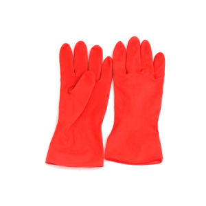Latex Household Gloves (red) 80grams pictures & photos