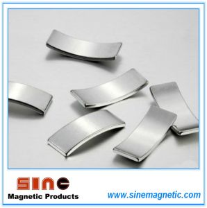 Custom Permanent Industrial NdFeB Arc Neodymium Magnet with RoHS Certification pictures & photos
