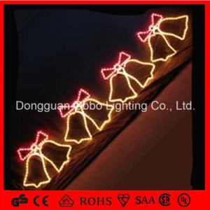 christmas fancy led christmas bell lights led motif light