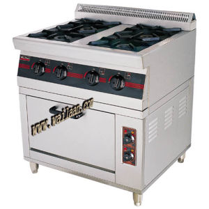 4 (6) -Burners Gas Range with Electric Oven (WGF4-6, WGF6-6)