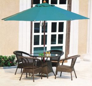 Good Quality Hot Sale Wooden Umbrella with Chairs (JB819)