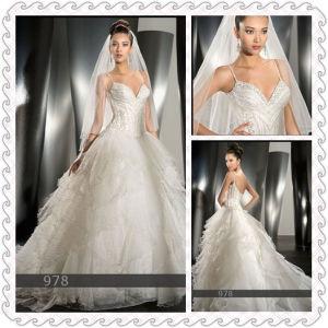 Ball Gown Long Train Wedding Dress Free Sent Veils