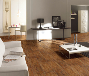 Wood Rustic Flooring Tiles for Indoor with 150*600 mm (15601)