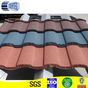 Stone coated steel rainbow roofing tile pictures & photos