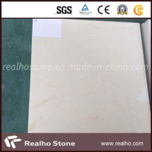 Cheap Beige White Engineered Marble Stone