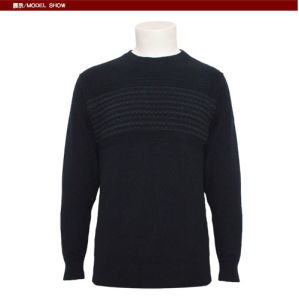 Men's Yak Knitted Round Neck Long Sleeve Pullover Sweater for Autumn