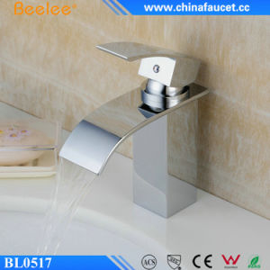 Beelee Solid Brass Chrome Basin Waterfall Mixer