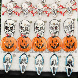 High Quality LED Halloween Blinky Pins with Logo Print (3161)