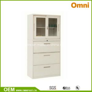 Office Commercial Furniture Glass Door Metal Filing Storage Cabinet (OMNI-XT-08) pictures & photos