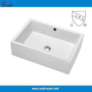 Above Counter Porcelain Art Bathroom Sink with Cupc Certification (SN104)