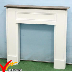 White French Style Shabby Chic Distressed Decorative Wood Fireplace pictures & photos