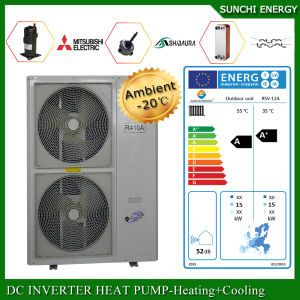 Cold -25c Winter Running 12kw / 19kw 35kw Floor Heating Room Indoor Unit / Outdoor Unit Evi Split Air to Water Heat Pump pictures & photos