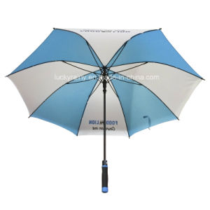 Straight Auto Open Advertising Umbrella with Whole Fiberglass Frame