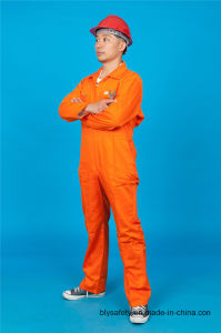High Quality Safety Long Sleeve 65% Polyester 35%Cotton Cheap Workwear Coverall (BLY1022) pictures & photos