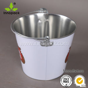 5qt Galvanized Metal Tin Ice Bucket with Handle and Bottle Opener pictures & photos