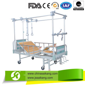 4 Cranks Manual Double-Arm Orthopedics Physiotherapy Treatment Traction Hospital Beds pictures & photos