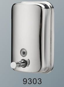 Reliable Quality 1000ml Chrome Wall Mounted Stainless Steel Soap Dispenser