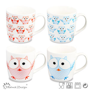 Owl Design Decal Ceramic New Bone China Mug pictures & photos