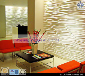 White Interior 3D Wood Decorative Wall Panel (NO. 84WFMS18mm) pictures & photos