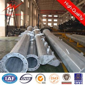 220kv Galvanized Octogonal 20m Steel Tubular Pole