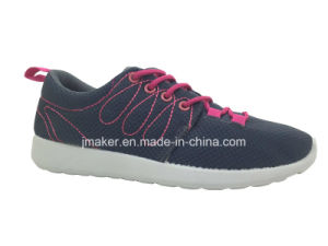 Popular Stylish Mesh Running Laydies Shoe with PVC Outsole (X177-L)