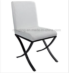Antique New Designs White Leather Dining Room Chair B8044