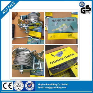 Wire Rope Manual Hand Winch pictures & photos