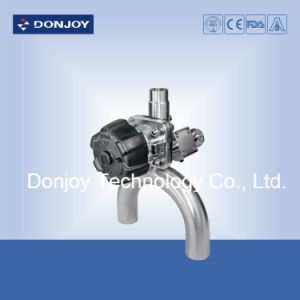 Three Way Diaphragm Valve U Type Stainless Steel for Pharmacy pictures & photos