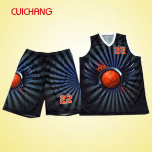 Basketball Uniform with Custom Design Sublimation Basketball Uniform