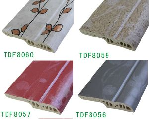 Art Wood Coated Flooring Accessories Wall Skirting Board PVC pictures & photos