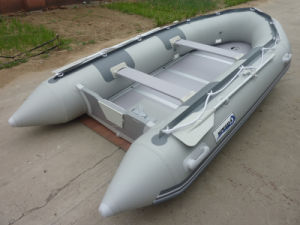 Rubber Folding 380cm Inflatable Sport Motor Boat pictures & photos