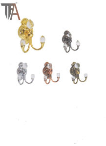 Iron with Crystal Material Curtain Hooks