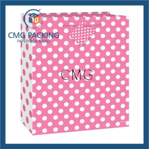 Medium Hot Pink Polka DOT Gift Bag pictures & photos