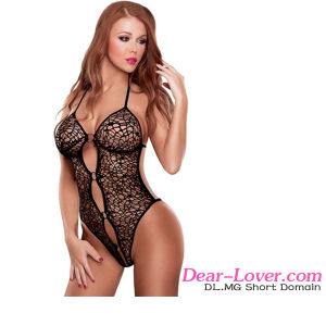Sexy Black Spider Web Ring Teddy Lingerie