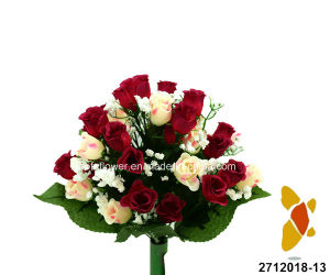 Artificial/Plastic/Silk Flower Rose/Rosebud Bush (2712018-13) pictures & photos